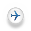 Plane icon - flights to Heraklion