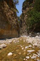 Samaria Gorge is in the west of Crete