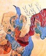 Fresco of the Blue Birds, Knossos Crete
