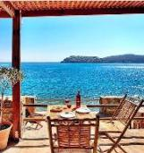 A Cottage by the Sea, Plaka overlooking Spinalonga Island, this is absolute beachfront