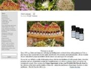 Wild Herbs of Crete webpage screen shot