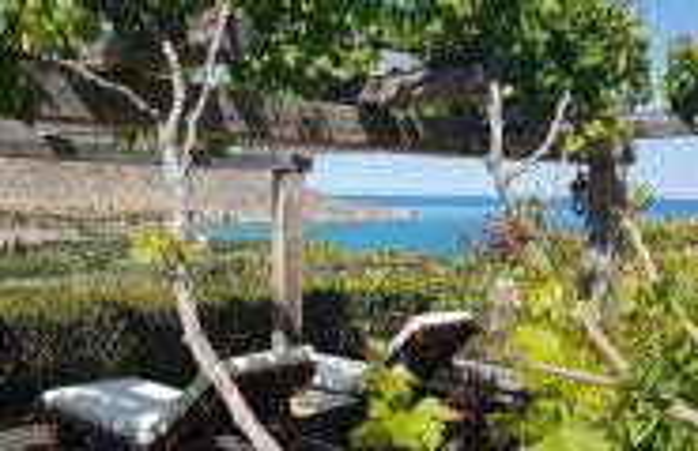View from Terra Minoika Villas to the bay at Kato Zakros
