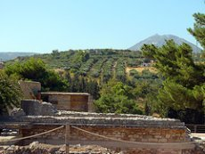 Knossos sits in a verdant valley (image by RP Young)