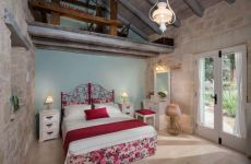 The master bedroom of Villa Petra in Apokoronas Crete