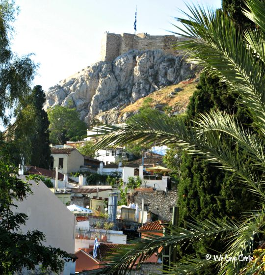 View from my Plaka Hotel - Athens