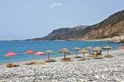 Paleochora Beach on the south coast of Chania