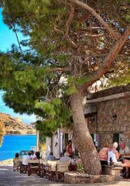 Village of Plaka with a glimpse of the island across the bay...