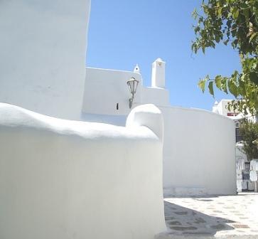 Bright white Mykonos