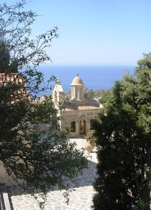 The Monastery of Preveli looks over the sea from the southern coast of Rethymnon