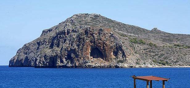 Looking across to Agioi Theodori Island