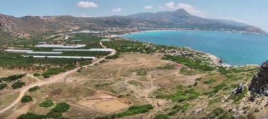 Ancient Falasarna sits just behind the beach of Falasarna