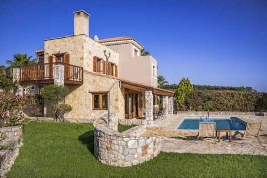 Athina Villas with expansive gardens and pool