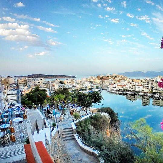 Agios Nikolaos, Crete, the view from Gioma Meze Bar