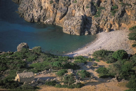 The ancient site of Lissos sits on a remote bay in the south of Crete