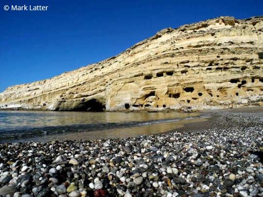 Matala Beach, Crete Greece (image by Mark Latter)