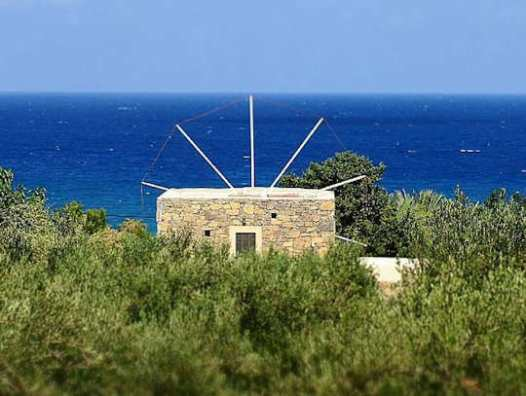 Stay in this converted windmill near Sitia