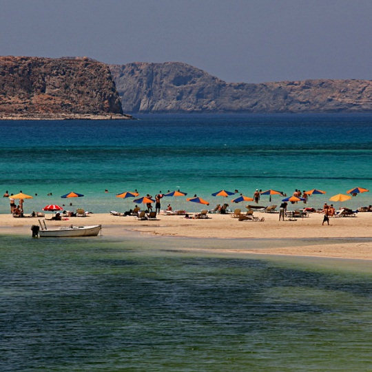 Balos Lagoon is remote and can only be visited by boat, jeep or car
