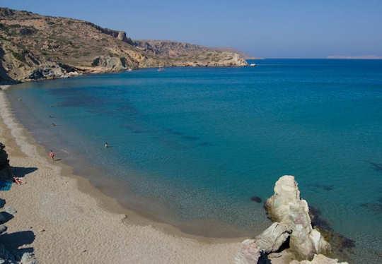 Erimoupolis Beach on the far eastern tip of Crete