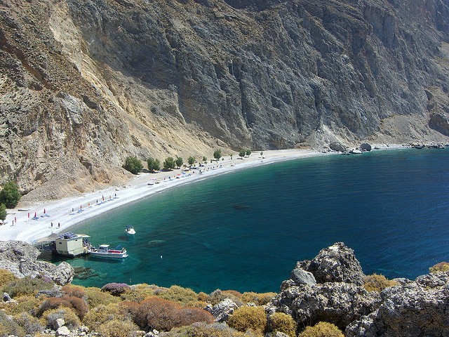 Χώρα Σφακίων also known as Sfakia, close to Sweetwater Beach in the south of Crete, Greece (image by Yatmandu)