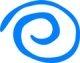 Blue swirl icon