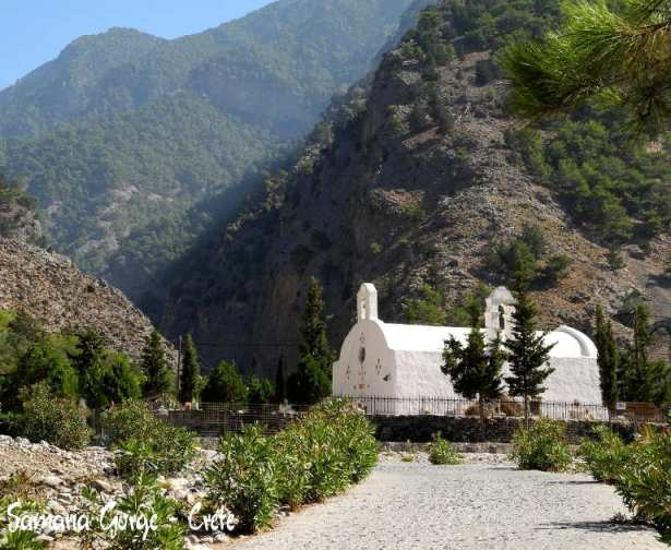 Samaria Gorge in south-west Crete is 16 km long