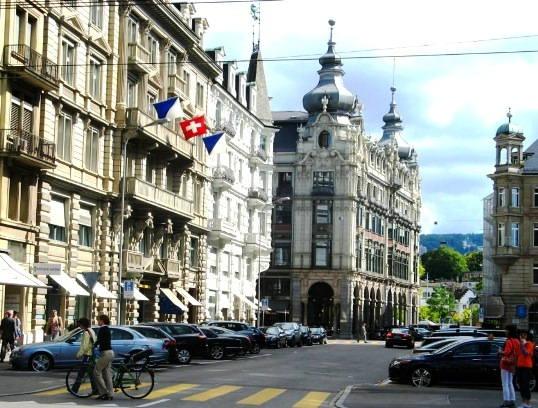 Borsenstrasse in Zurich