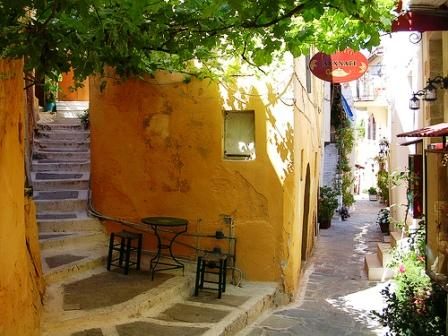 Chania Old Town, Ochre walls in the shade