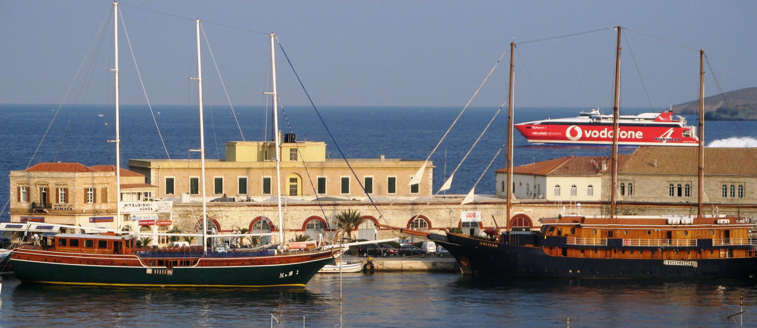 Syros Greece - Ermoupolis Harbour
