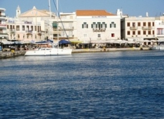 Ermoupolis Harbour - blue of the Med