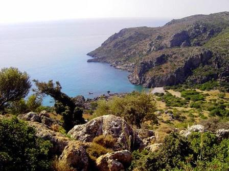 The ancient site of Lissos is 3.5 km from Sougia in Crete
