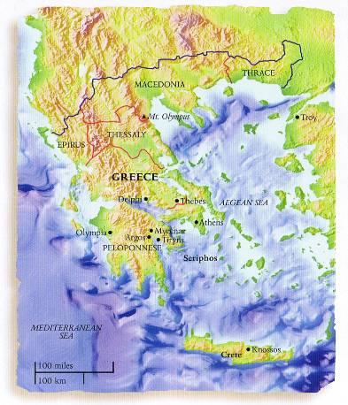 Location in Greece