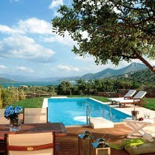 Almond Tree Villa with view to Elounda Bay