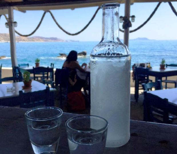 Agia Fotini cold Raki by the bay