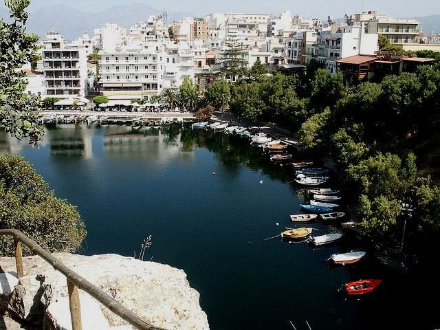 This is Agios Nikolaos in the east of the island
