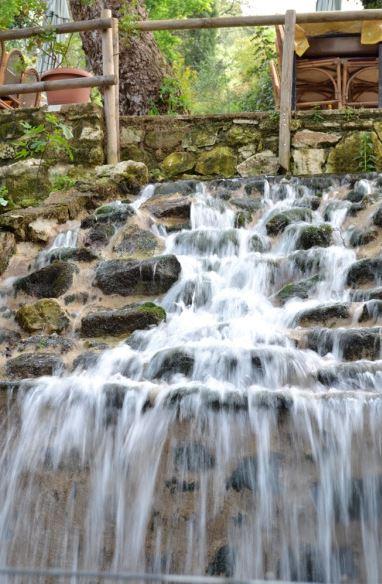 Waterfall in the taverna at Agiroupolis, Crete