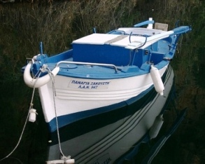 Lake Voulismeni Fishing Boat (image by Boky)
