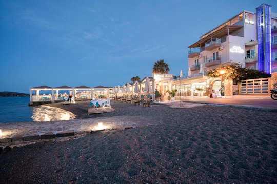 Akti Olous Hotel at Night, Elounda Crete