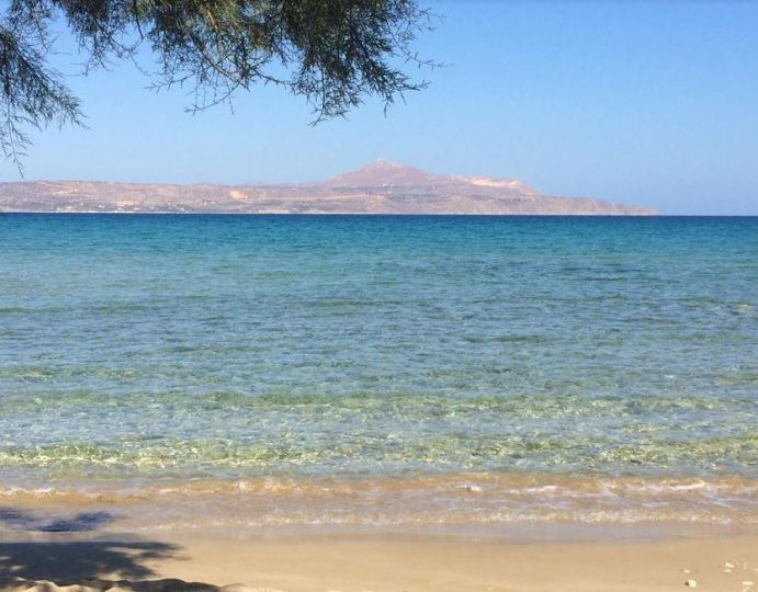The clear waters of Almyrida Beach in Chania
