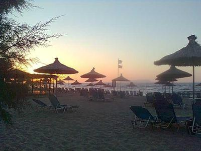 The sunsets from Anissaras beach are lovely.