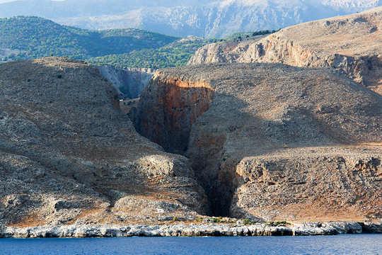 Aradena Gorge is close to Loutro - Marmara Beach is at the entrance