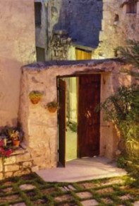 Traditional Home Doorway - Archanes Village