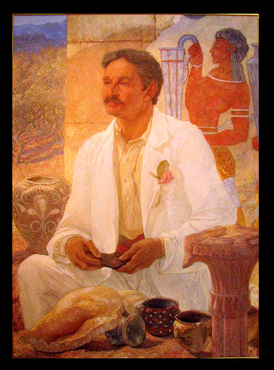 Sir Arthur Evans portrait (image by Martin Beek)