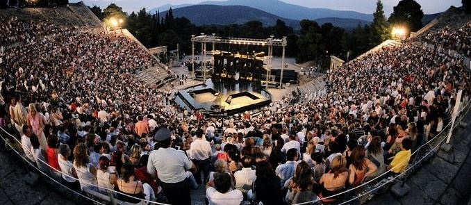 Hellenic Festival - This image is Epidauvros Theatre during the Athens Epidavros Festival held annually