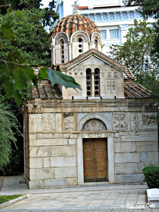 This is the small chapel next to the main cathedral - Agios Eleftherios Micropoleos
