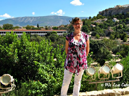 In the Agora - this view with the Stoa in the background