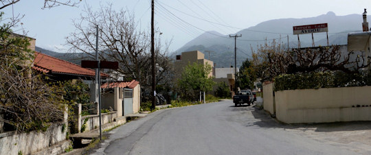Avdou Village main street