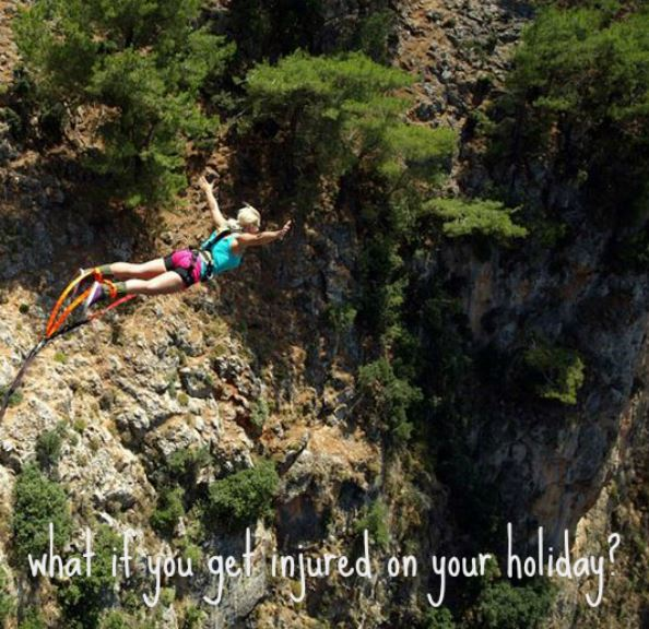 Aradena Gorge in Crete - Bungee Jumping - what if you get injured on your holiday? - for backpackers cheap travel insurance