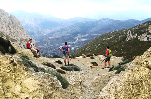 Hiking in the White Mountains, Crete