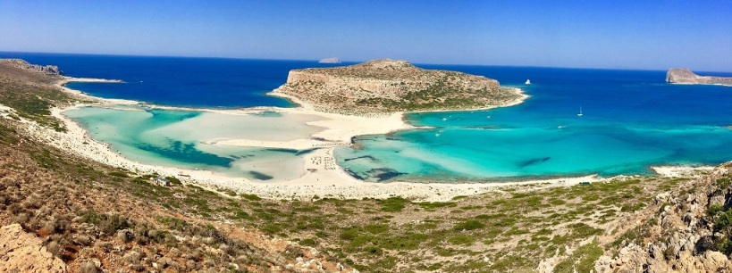 Balos Lagoon and Gramvousa Island in the west of Crete