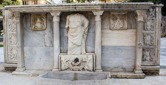 The Bembo Fountain in central Heraklion, Crete